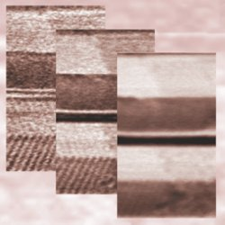 Images worth a thousand molecules. Transition from a fishbone-like orientation of the liquid crystal molecules to a more random one scanning the fiber at different heights from the surface.