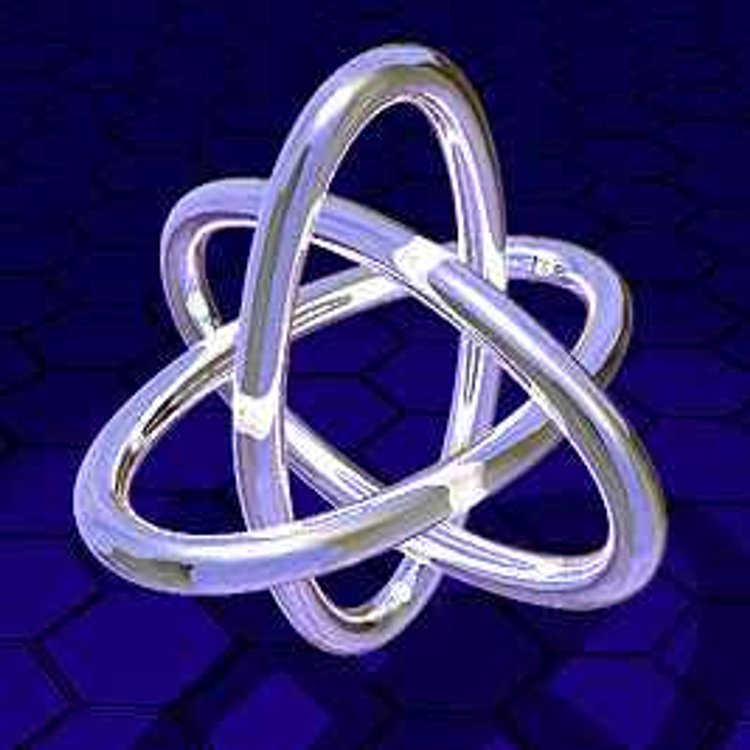 The Borromean Rings. Efimov states are often illustrated by the Borromean rings. All three  rings are bound together but no two rings are bound as pairs.