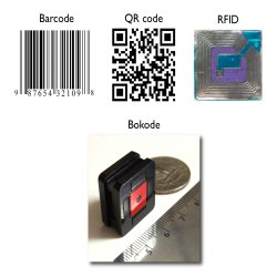 Barcode technologies. Some of the previous barcode technologies compared with the Bokode prototype developed at MIT.
